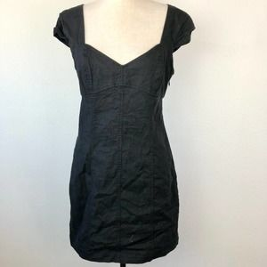 Urban Outfitters Black Linen  Blend Dress M